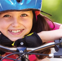 Safe cycling for kids.