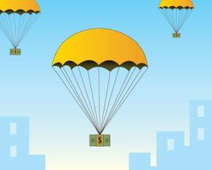 A mini parachute