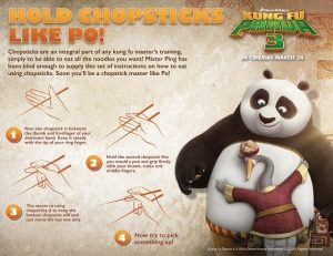Hold chopsticks like Po