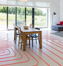 Energy efficient underfloor heating