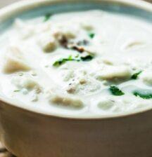 Thai fish in coconut milk