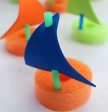 Pool noodle boats for Auckland puddles!