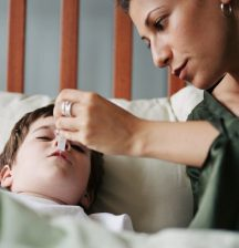 Staying home with sick kids