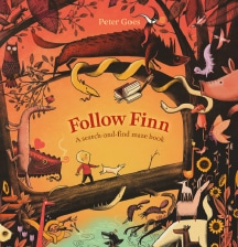 Follow Finn: A search-and-find maze book by Peter Goes