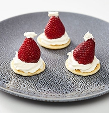Santa hat kids' blinis