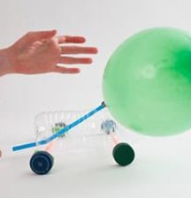 Balloon-powered race car