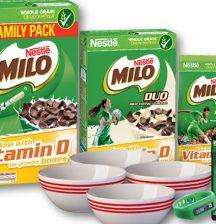 Milo cereal champ packs