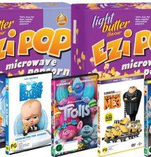 Ezi Pop popcorn and movies