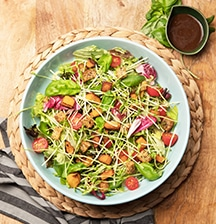 Continental salad with buttercup & croutons