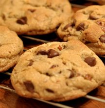 Chocolate-chip biscuits are good for the soul when baked by someone else