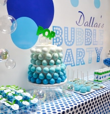 Birthday bubble bash