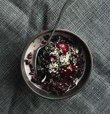 Cherry and chocolate porridge