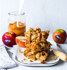 Spiced apple & dulce de leche bars