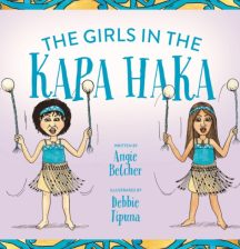 The girls in the kapa haka by Angie Belcher and Debbie Tipuna
