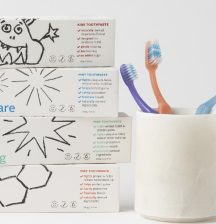 Ecostore kids toothpaste and toothbrush