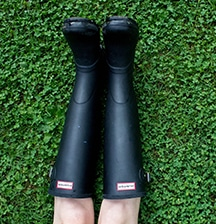 My first pair of gumboots