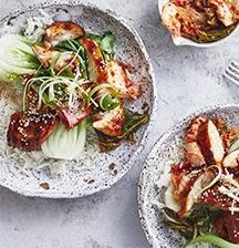 Sticky sweet Korean chicken