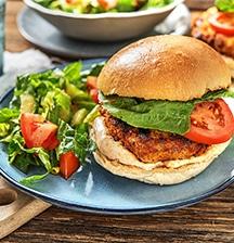 Rosemary & Parmesan Crumbed Chicken Burger
