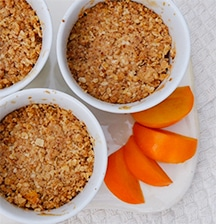 Healthy Persimmon and Apple Mini Crumbles