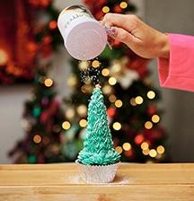 How to make cupcake Christmas trees