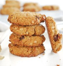 Honey, oat and sultana cookies