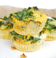 Spinach and cheese mini frittatas