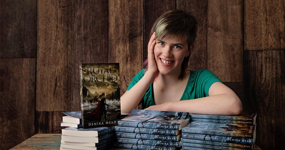 Teenage author Denika Mead