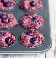 Blueberry and Beet Muffins